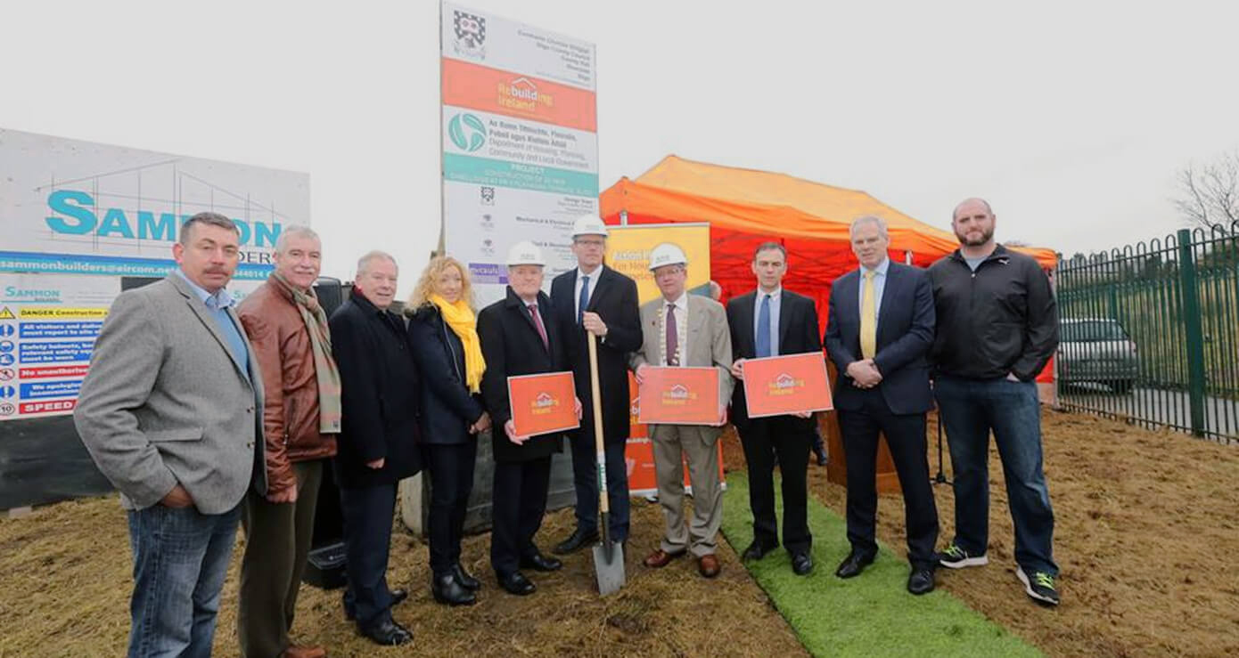 Minister Coveney 'turns the sod' on Fr O'Flanagan Housing Scheme