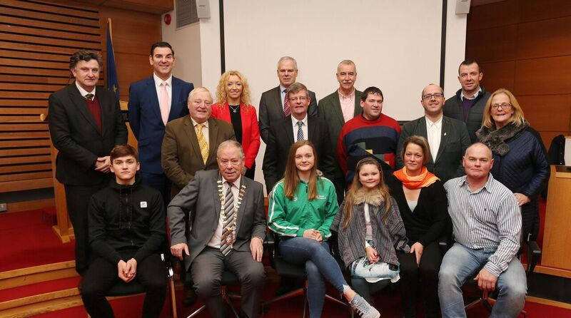 Champion Swimmer Mona McSharry Honoured at County Hall