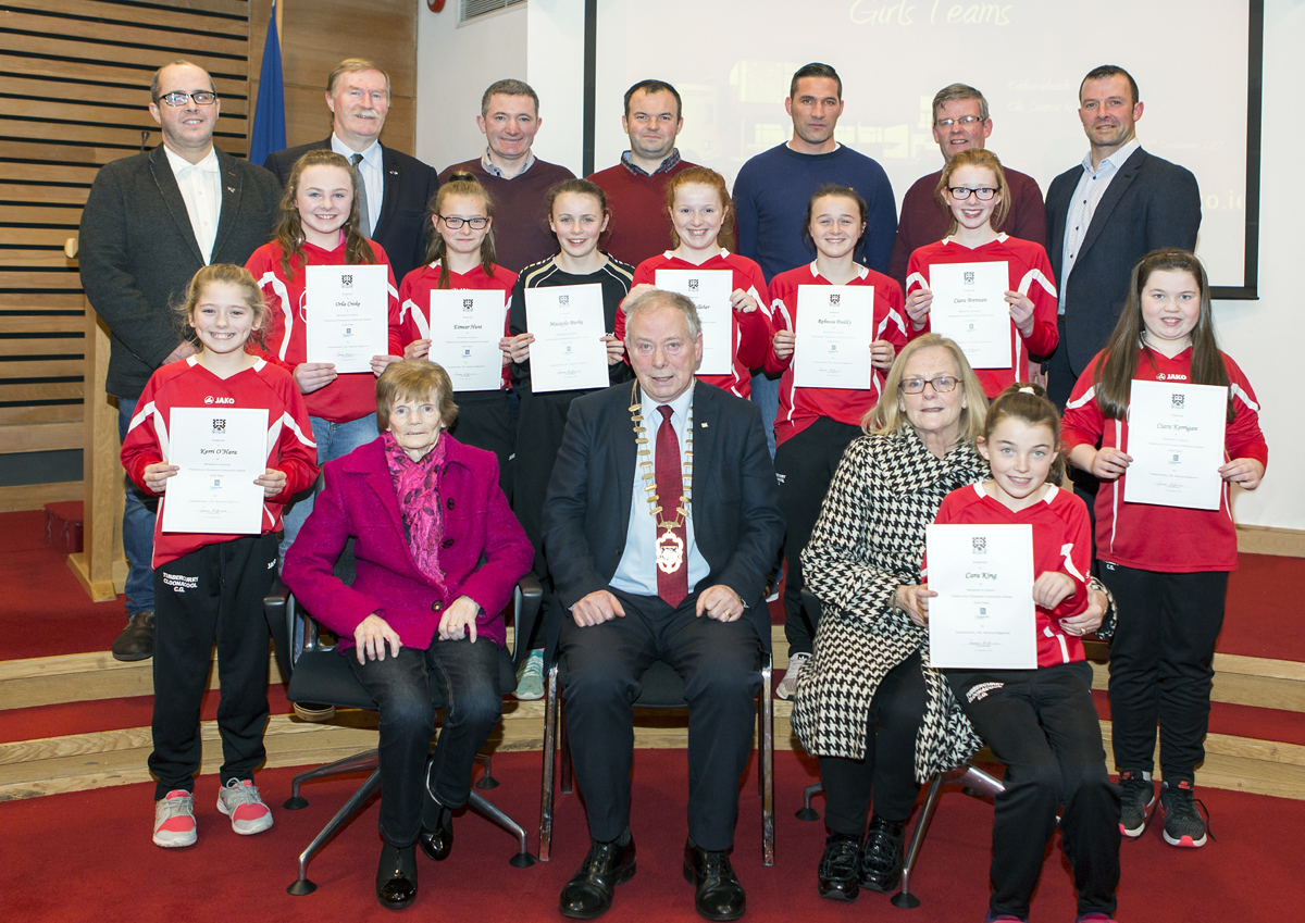 Tubbercurry/Cloonacool Community Games National Champions honoured at County Hall