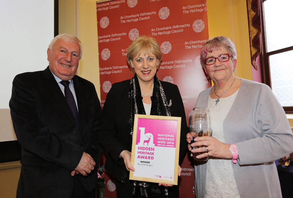 Minister Humphreys presents Hidden Heritage Award to LEAP Project Easkey