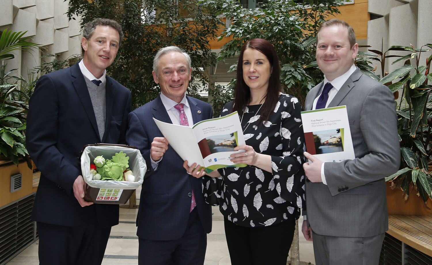 Minister Bruton Launches Report on Pioneering National Brown Bin Initiative