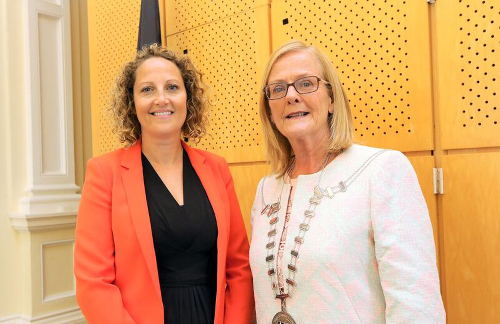 Mayor Councillor Rosaleen O'Grady with Deputy Mayor Councillor Sinead Maguire