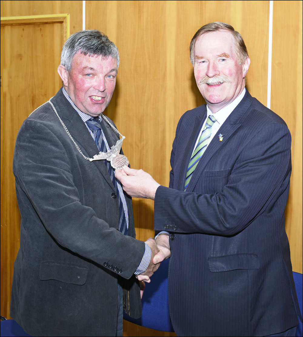 Cathaoirleach of Ballymote-Tobercurry Municipal District Councillor Joe Queenan with Leas Cathaoirleach Councillor Jerry Lundy