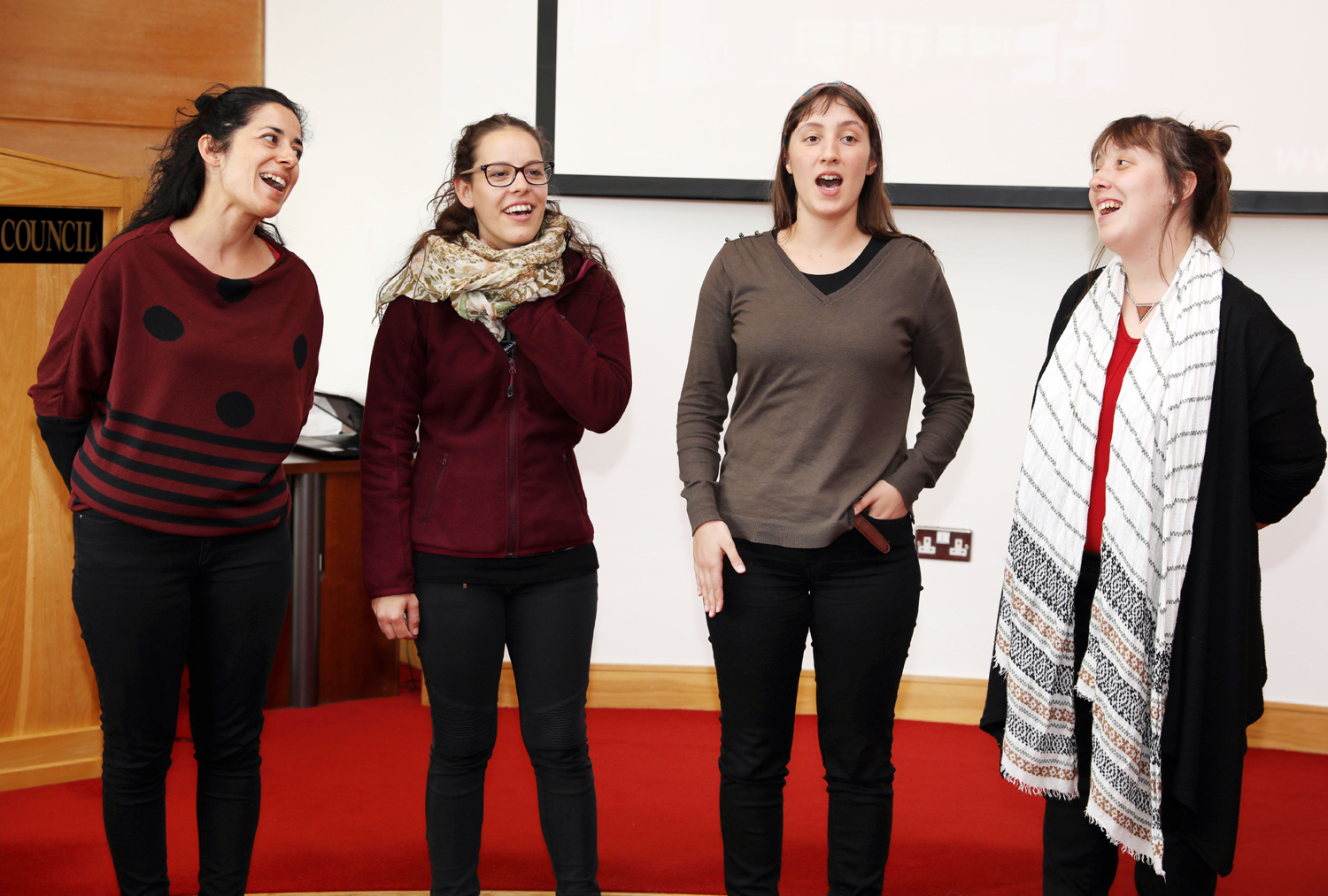 Singers from Miranda Da Douro perform in County Hall